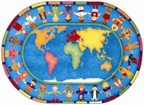 Hands Around The World Kids Area Rugs Learner Supply