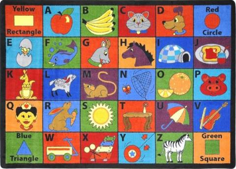 for nursery rug boxes rugs rosenberry kids theme abc alphabet rooms
