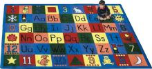 A rectangle shaped ABC rug for the classroom.