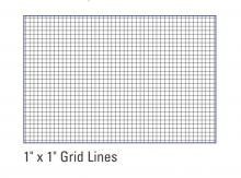 "dry erase board with 1"" x 1"" grid lines"