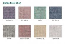 The burlap that covers the wall bulletin boards is available in eight different colors.