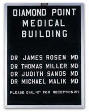 The light weight letter message board with aluminum frame is portable and easily moved from one location to the next.