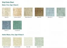 The bulletin board comes in several different colors.