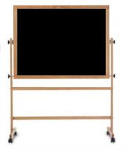 A Black Portable Chalkboard for a school.